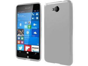 Microsoft Lumia 650 Case, eForCity Frosted TPU Rubber Candy Skin Case Cover Compatible With Microsoft Lumia 650, Clear