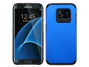 Samsung Galaxy S7 Edge Case, eForCity Dual Layer [Shock Absorbing] Protection Hybrid Rubberized Hard PC / Silicone Case Cover Compatible With Samsung Galaxy S7 Edge, Blue / Black