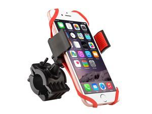 eForCity Red Universal Motorcycle Bicycle MTB Bike Handlebar Mount Holder For iPhone 6/ 6s Plus/ 5/ 5c/ 5S/ SE HTC One M7 M8 S X XL Samsung Galaxy S6 S5 S7 Edge