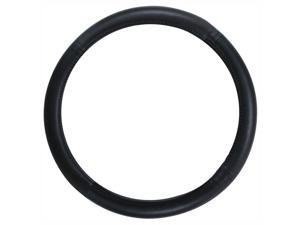Pilot Automotive Genuine Leather Car Auto Steering Wheel Cover - Black