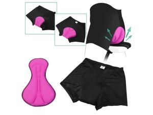 Zodaca Women Black/ Pink Gel 3D Padded Sports Cycling Bike Bicycle Professional Outdoor Biking Short Pants Underwear - Size XXL