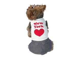 Hip NEW YORK Cotton and Denim Dog Dress, 2 Extra Small