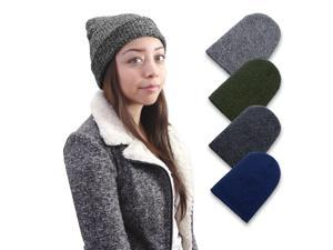 Zodaca Winter Women Men Knitted Ski Baggy Slouch Hat Unisex Cap Beanie Hip-Hop Warm Hats - Black
