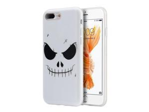 Apple iPhone 7 Plus Case, eForCity Evil mind TPU Rubber Candy Skin Case Cover Compatible With Apple iPhone 7 Plus, White/ Black