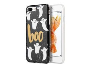 Apple iPhone 7 Plus Case, eForCity Boo TPU Rubber Candy Skin Case Cover Compatible With Apple iPhone 7 Plus, Black/ White