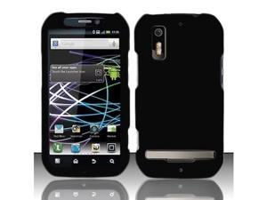 Black Rubberized Hard Plastic Case for Motorola Photon 4G MB855