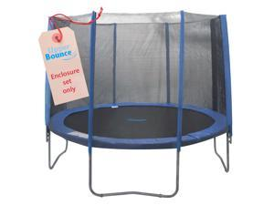 Upper Bounce 8 Pole Trampoline Enclosure Set to fit 10 FT. Trampoline Frames with set of 4 or 8 W-Shaped Legs (Trampoline Not Included)