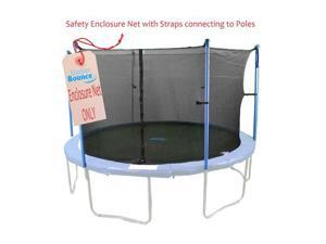 10'  Trampoline Enclosure Safety Net Fits For 10 Ft. Round Frame Using 6 Poles or 3 Arches (poles not included)
