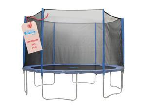 Upper Bounce  6 Pole Trampoline Enclosure Set to fit 12 FT. Trampoline Frames with set of 3 or 6 W-Shaped Legs (Trampoline Not Included)