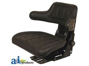 Universal full suspension adjustable Tractor Seat with armrest BLACK