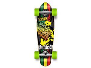 "Complete Graphic Longboard MiCro Cruiser Skateboard 25"" X 7"" - RASTA"