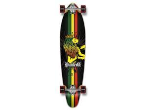 "Complete Longboard KICKTAIL Skateboard 40"" X 9.75"" - RASTA"
