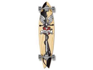 """Graphic Complete Longboard Fishtail Skateboard 40"""" X 9.75"""" - SMITE"""