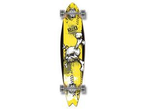 "Graphic Complete Longboard Fishtail Skateboard 40"" X 9.75"" - YSKULL"