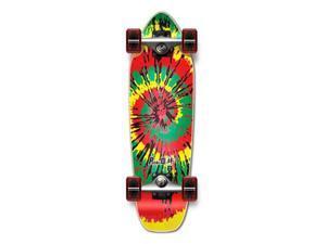 "Complete Longboard Mini Cruiser/ Banana Cruiser Skateboard 27"" X 8"" - TIEDYE - RASTA"