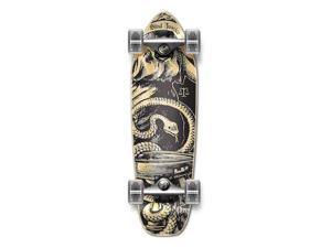 "Complete Longboard Mini Cruiser/ Banana Cruiser Skateboard 27"" X 8"" - BLACK BLIND JUSTIC"