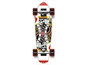 "Complete Graphic Longboard MiCro Cruiser Skateboard 25"" X 7"" - KING OF HEARTS"