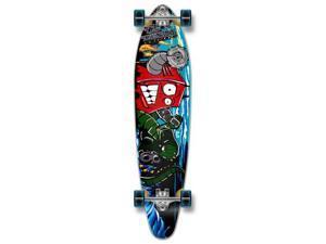 "Complete Graphic Longboard KICKTAIL Skateboard 40"" X 9.75"" - Robot"