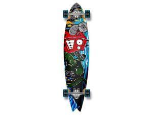 "Graphic Complete Longboard Fishtail Skateboard 40"" X 9.75"" - Robot"