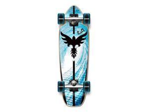 """Complete Longboard Mini Cruiser/ Banana Cruiser Skateboard 27"""" X 8"""" - TSUNAMI"""