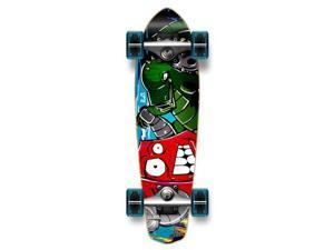"Complete Graphic Longboard MiCro Cruiser Skateboard 25"" X 7"" - Robot"