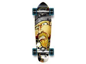 "Complete Graphic Longboard MiCro Cruiser Skateboard 25"" X 7"" - Viking"