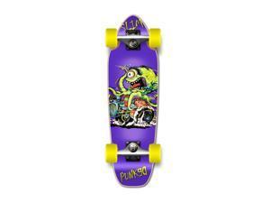 "Complete Longboard Mini Cruiser/ Banana Cruiser Skateboard 27"" X 8"" - Hot Rot Slim"