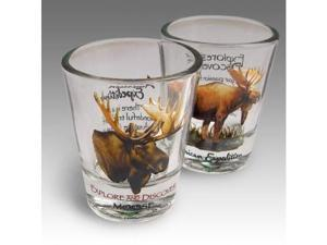 American Expedition Set of 2 Shot Glasses - Moose