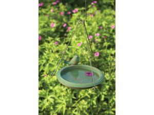 Bird Bath Teal Round Hanging