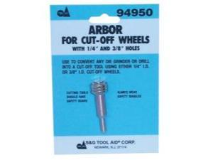 "Arbor for Cut-Off Wheels with 1/4"" and 3/8"" Center Holes"