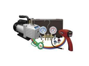 A/C Kit with Pump, Leak detector and Gauge Set