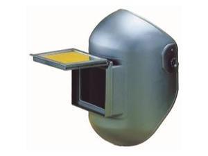 "Lift/Fixed Front Combo Helmet, 4-1/2"" x 5-1/4"" Black"