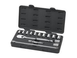 "15 Piece 1/2"" Drive 6 Point SAE Socket Set"