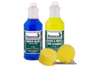 Super Blue Tire Gloss Shine, Tire Cleaner and Tire Dresser Applicators Kit