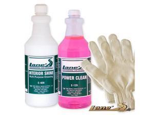 Auto Interior Shine, Auto Detail Microfiber Gloves and Vinyl Cleaner Kit