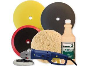 "Lane's 7"" Variable Speed Polisher Buffing Pad Kit"