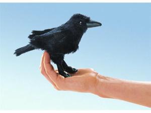 "Folkmanis Puppet Mini Raven 7"""
