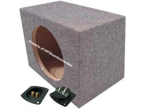 SINGLE 15 SEALED CAR AUDIO SUB BOX BASS SPEAKER SEALED SUBWOOFER ENCLOSURE