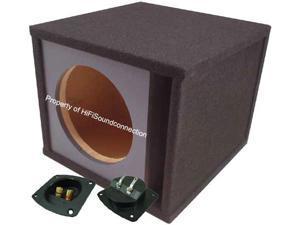 "CAR AUDIO SINGLE 10 PORTED PAINTABLE 10"" SUBWOOFER ENCLOSURE SPEAKER SUB BOX"