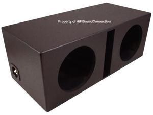 CAR AUDIO RHINO PORTED DUAL 12 SUB BOX STEREO SPEAKER BASS SUBWOOFER ENCLOSURE