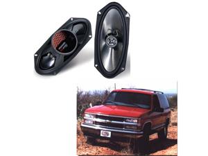 "KICKER CAR AUDIO PACKAGE W/ 2 KS4100 4X10"" STEREO SPEAKERS FITS TAHOE & SUBURBAN"