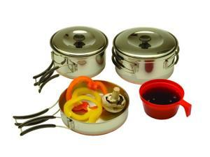Texsport Backpackers 4 Piece Stainless Steel Cook Set