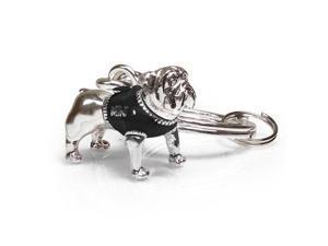 MINI Cooper Bull Dog in Black Vest Key Chain