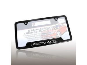 Cadillac Escalade Black Steel License Frame