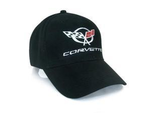Corvette C5 Logo and Name Black Baseball Cap