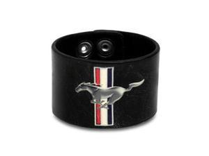 Ford Mustang Logo Black Leather Cuff