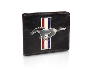 Ford Mustang Logo Black Leather Wallet