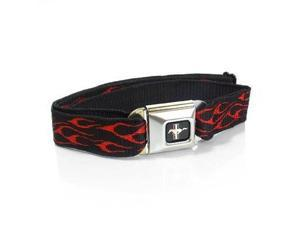Ford Mustang Seatbelt Buckle Red Flames Belt