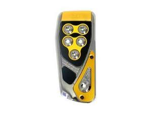 RAZO RP106YE Yellow Foot Rest Pedal Cover