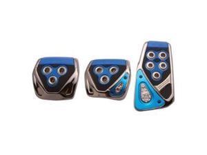 RAZO RP104BL Blue Manual Car Pedal Covers